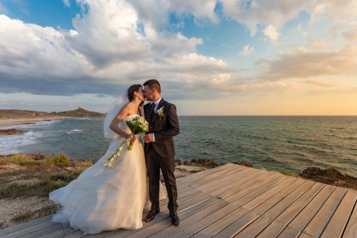 fotografia di matrimonio realizzata a San Giovanni di Sinis, borgata marina di Cabras, provincia di Oristano, Sardegna