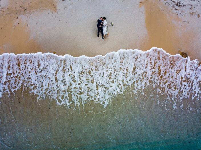 fotografia di matrimonio realizzata Is Arutas, Cabras, provincia di Oristano, Sardegna