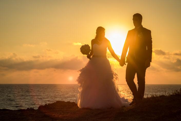 fotografia di matrimonio realizzata a San Giovanni di Sinis, provincia di Oristano, Sardegna