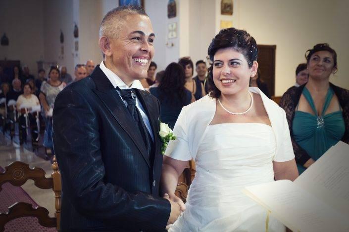 Reportage di matrimonio a Cabras, un momento della cerimonia religiosa