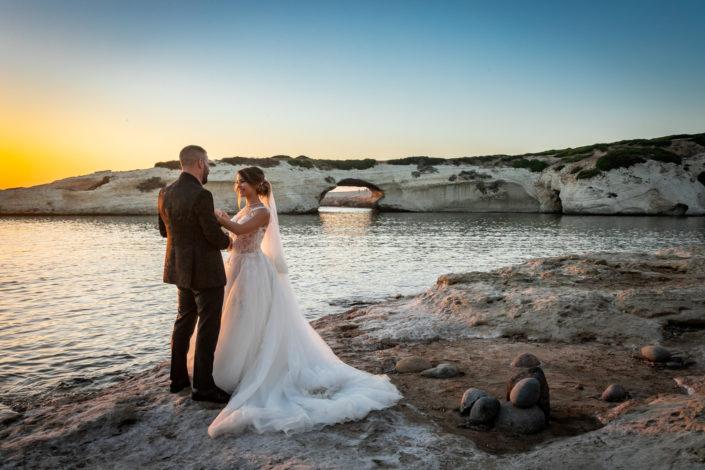 fotografia di matrimonio realizzata a S'Archittu, provincia di Oristano, Sardegna