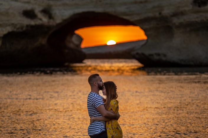 prematrimoniale realizzato a S'Archittu con un bellissimo tramonto