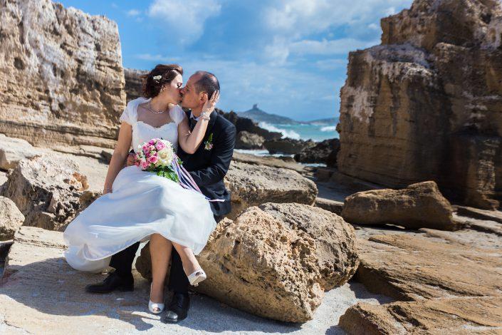 Fotografia di matrimonio realizzata a San Giovanni di Sinis. Comune di Cabras.
